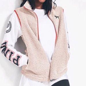 PINK sherpa vest